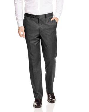 JACK VICTOR Loro Piana Regular Fit Dress Pants in Medium Grey