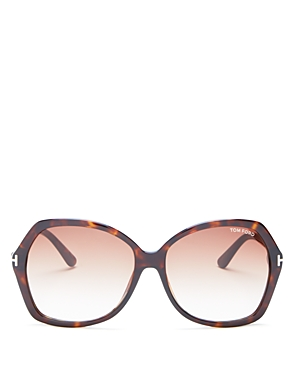 Tom Ford Carola Oversized Square Sunglasses, 60mm