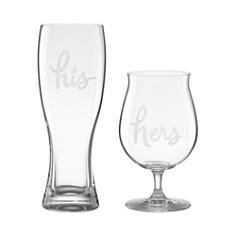kate spade new york Two Of A Kind His & Hers Beer Glasses, Set of 2 - Bloomingdale's Registry_0