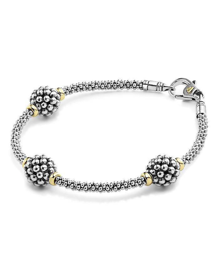 LAGOS - Sterling Silver Bracelet with Caviar Stations
