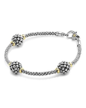 Lagos Sterling Silver Bracelet with Caviar Stations