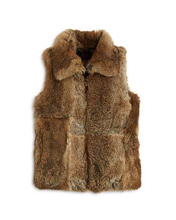 Surell - Girls' Collared Fur Vest - Big Kid