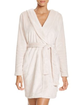 Australia Miranda Double Face Fleece Hooded Robe, Moonbeam