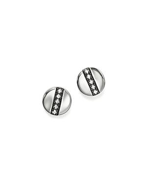 Ippolita Sterling Silver Glamazon Stardust Station Stud Earrings with Diamonds