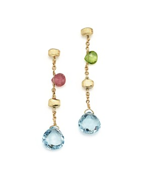 Marco Bicego - Paradise Drop Earrings with Mixed Semi-Precious Stones in 18K Yellow Gold