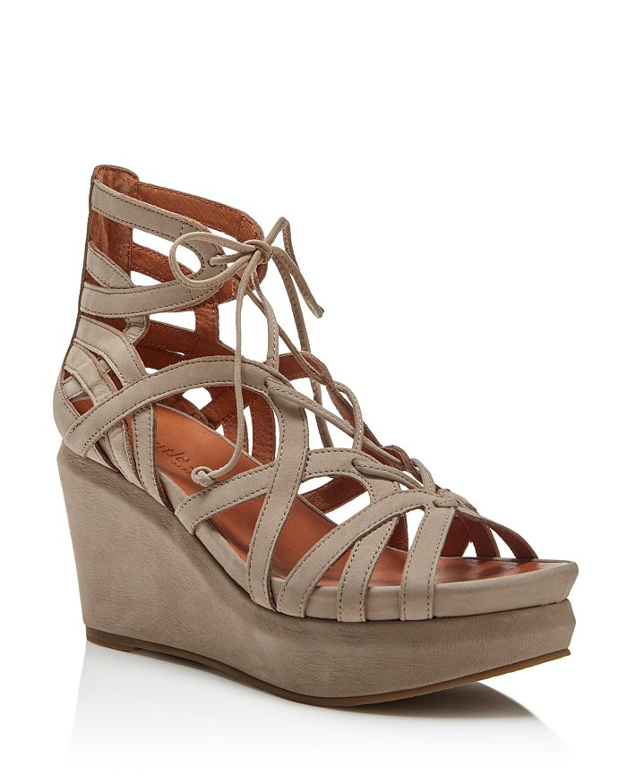 Gentle Souls by Kenneth Cole - Women's Joy Lace Up Wedge Sandals
