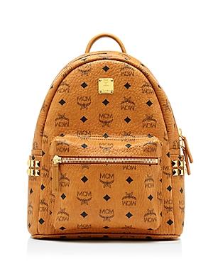 mcm female mcm stark side stud small backpack