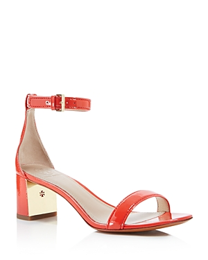 Tory Burch Cecile Ankle Strap Mid Heel Sandals