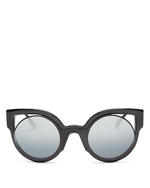 Fendi Floating Round Cat Eye Sunglasses, 49mm