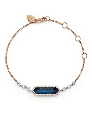 Meira T 14K Rose Gold, Blue Labradorite and Onyx Bracelet with Diamonds