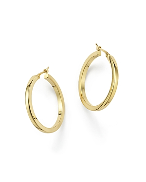 14K Yellow Gold Square Hoop Earrings - 100% Exclusive