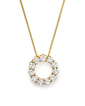 Bloomingdale's - Diamond Circle Pendant Necklace in 14K Yellow Gold, 2.0 ct. t.w.- 100% Exclusive
