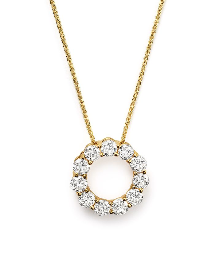 Bloomingdale's - Diamond Circle Pendant Necklace in 14K Yellow Gold, 2.0 ct. t.w. - 100% Exclusive