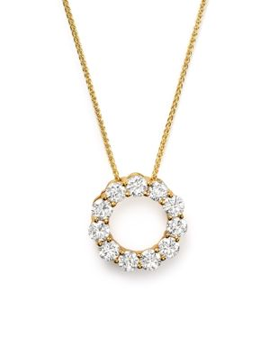 Diamond Circle Pendant Necklace in 14K Yellow Gold, 2.0 ct. t.w. - 100% Exclusive