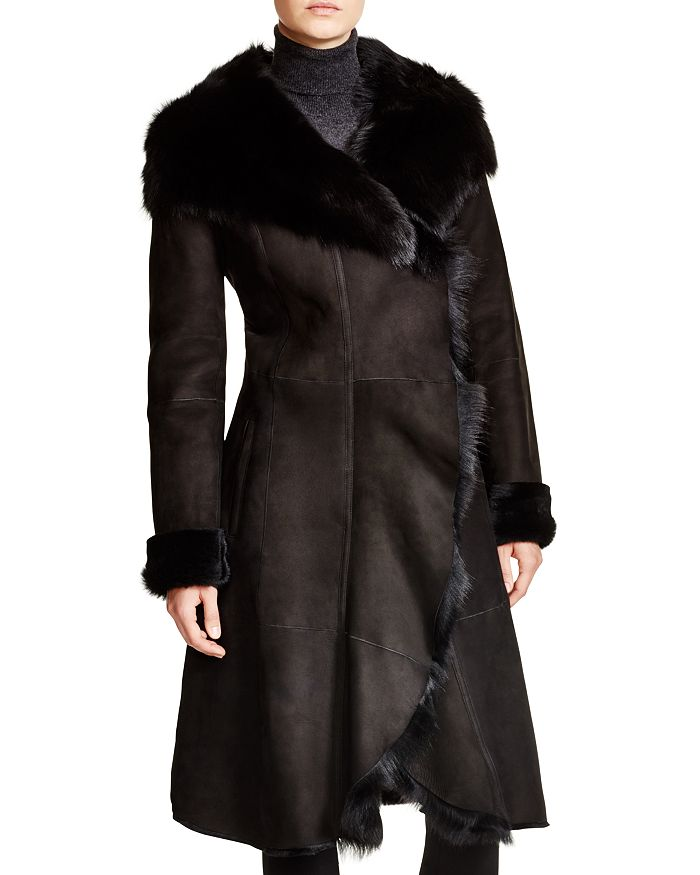 Maximilian Furs - Hooded Shearling Coat with Toscana Collar - 100% Exclusive
