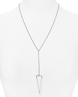 """Bloomingdale's - Sterling Silver Pyramid Pendant Necklace, 22"""" - 100% Exclusive"""