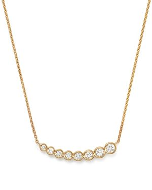 Kc Designs Diamond Graduating Bezel Pendant Necklace in 14K Yellow Gold, 16
