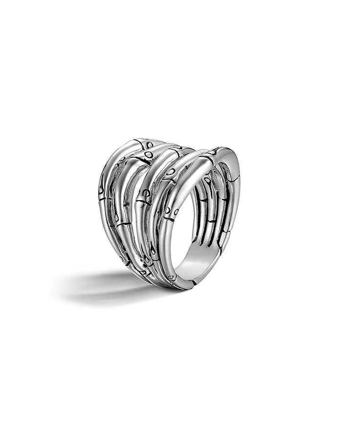 JOHN HARDY - John Hardy Women's Bamboo Silver Wide Ring