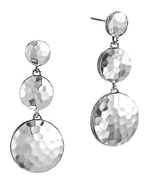 John Hardy Palu Sterling Silver Triple Drop Linear Earrings-Jewelry & Accessories