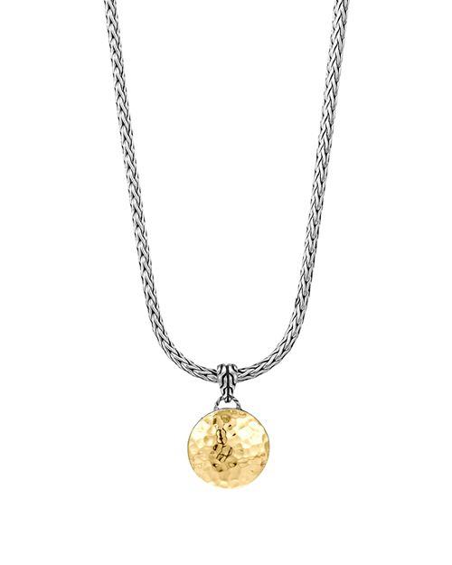 """JOHN HARDY - John Hardy Sterling Silver & 18K Gold Palu Round Pendant on Chain Necklace, 16"""""""