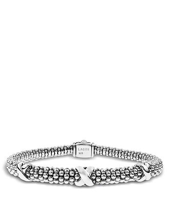 LAGOS - Signature Sterling Silver X Trio Caviar Bracelet