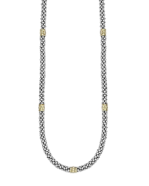 Lagos Signature Caviar Sterling Silver & 18K Gold Rope Necklace, 16-Jewelry & Accessories