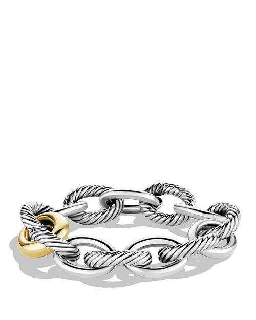 David Yurman - Oval Chain Extra-Large Link Bracelet with Gold