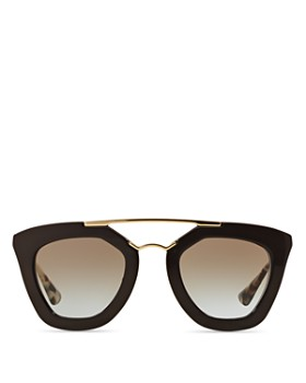 Prada - Women's Brow Bar Cat Eye Sunglasses, 49mm