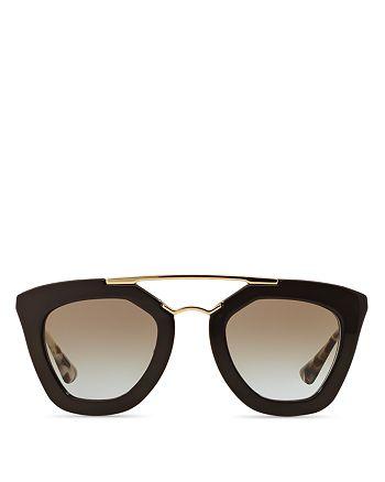 Prada - Women's Brow Bar Cat Eye Sunglasses, 49mm