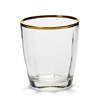 VIETRI - Optical Gold Double Old Fashioned Glass