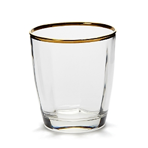 Vietri Optical Gold Double Old Fashioned Glass