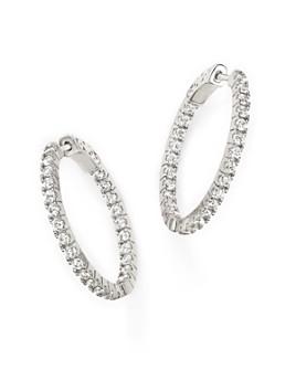 Bloomingdale's - Diamond Inside Out Hoop Earrings in 14K White Gold, 1.50 ct. t.w.- 100% Exclusive