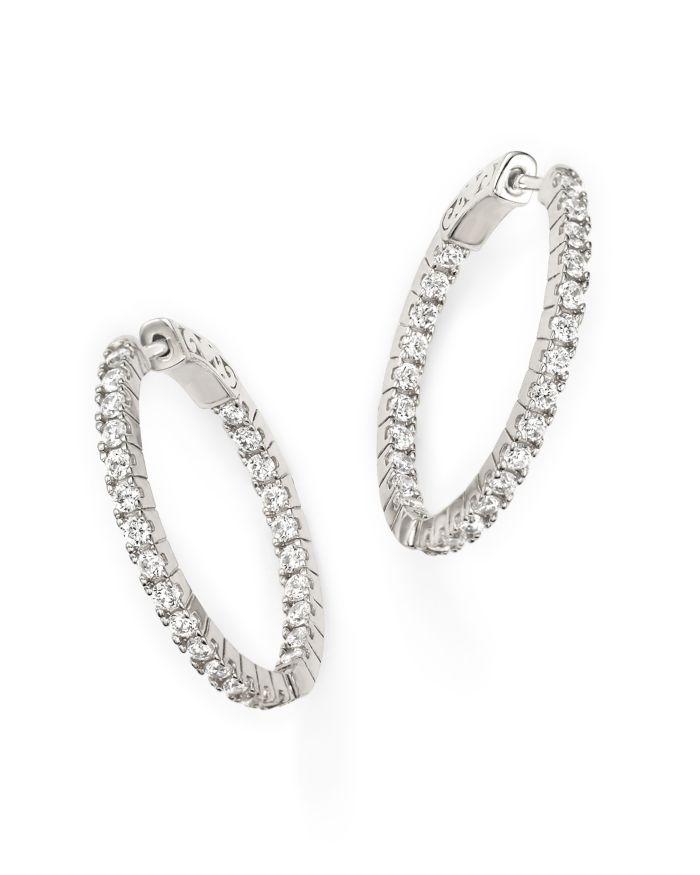 Bloomingdale's Diamond Inside Out Hoop Earrings in 14K White Gold, 1.50 ct. t.w.    Bloomingdale's