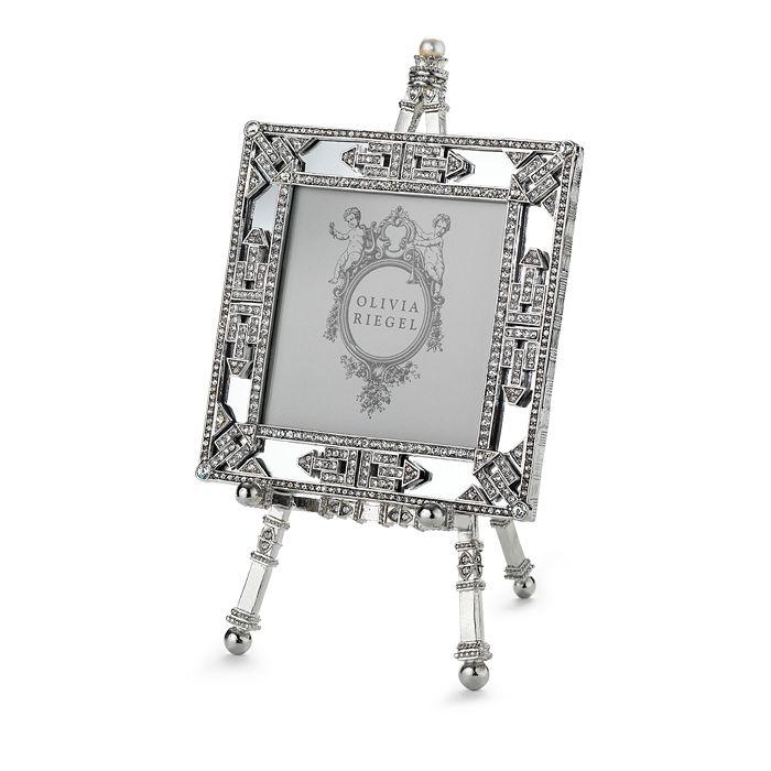 "Olivia Riegel - Deco Mirror Frame on Easel, 3.5"" x 3.5"""