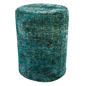 Bloomingdale's Vintage Carpet Ottoman, Turquoise