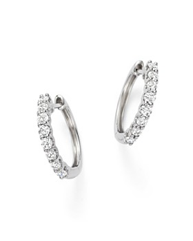 Bloomingdale's - Diamond Hoop Earrings in 14K White Gold, 0.60 ct. t.w. - 100% Exclusive