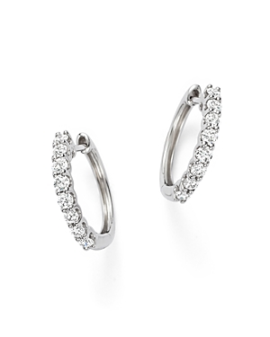 Diamond Hoop Earrings in 14K White Gold, 0.60 ct. t.w. - 100% Exclusive