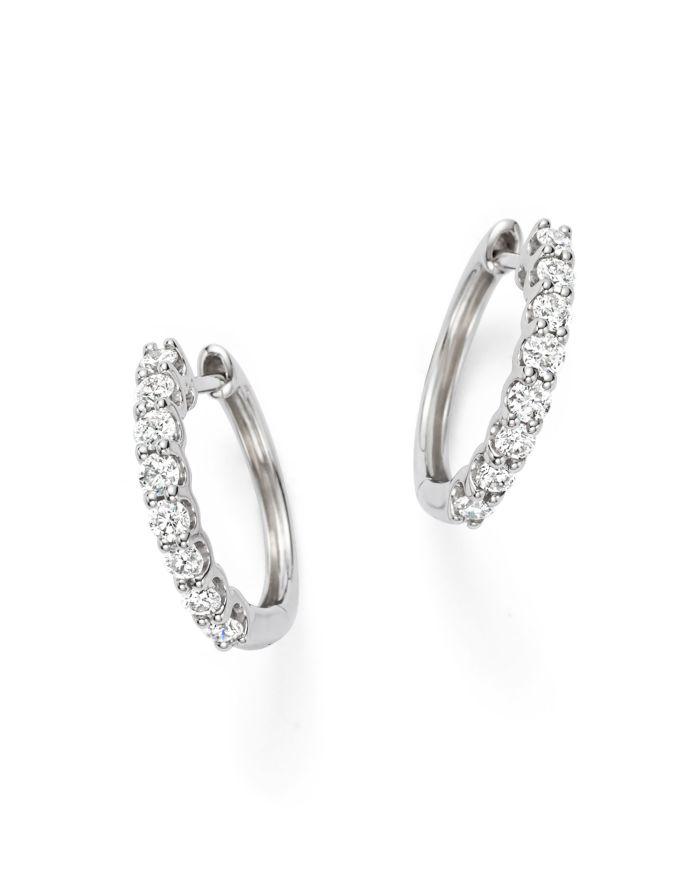 Bloomingdale's Diamond Hoop Earrings in 14K White Gold, 0.60 ct. t.w. - 100% Exclusive    Bloomingdale's