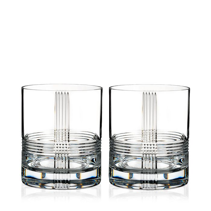 Rogaska - Fan Club Double Old-Fashioned Glass, Set of 2