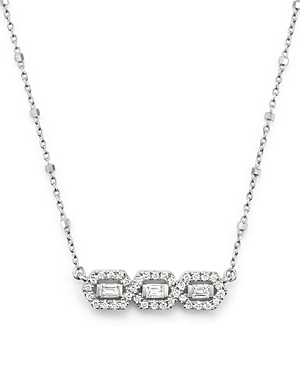 Diamond 3-Stone Bar Necklace in 14K White Gold, .50 ct. t.w. - 100% Exclusive