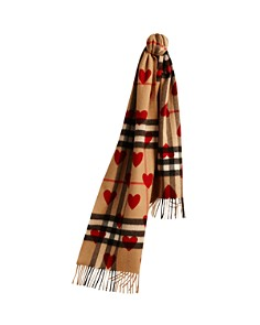 Burberry Kids Unisex Heart Check Cashmere Scarf - Bloomingdale's_0