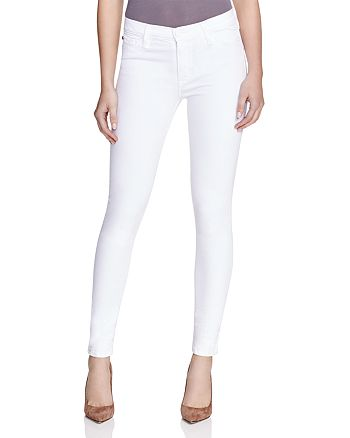 Hudson - Nico Mid-Rise Super-Skinny Ankle Jeans in White
