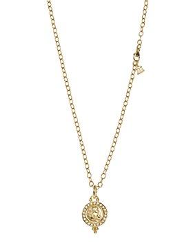 Temple St. Clair - 18K Gold 10mm Angel Pendant with Diamond Pavé