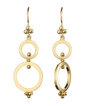 Temple St. Clair - Temple St. Clair 18K Yellow Gold Double Ring Earrings