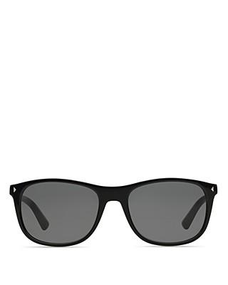 ee13d6b2c5ea  Prada Rectangle Black Sunglasses