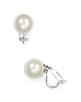 Ralph Lauren - Imitation-Pearl Clip-On Earrings