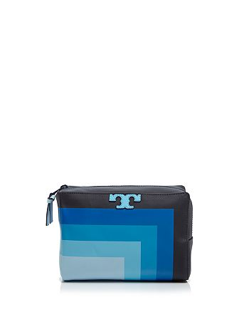 Tory Burch - Stripe-T Medium Cosmetics Case