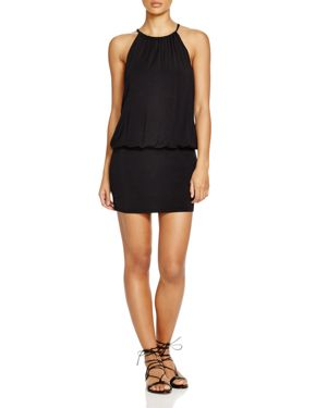 Laundry by Shelli Segal Solid Blouson Dress Swim Cover-Up 1588687