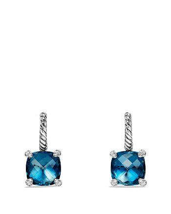 David Yurman - Châtelaine Drop Earrings with Hampton Blue Topaz and Diamonds