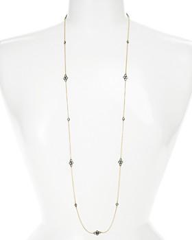 "Freida Rothman - Four Point Station Wrap Necklace, 40"""